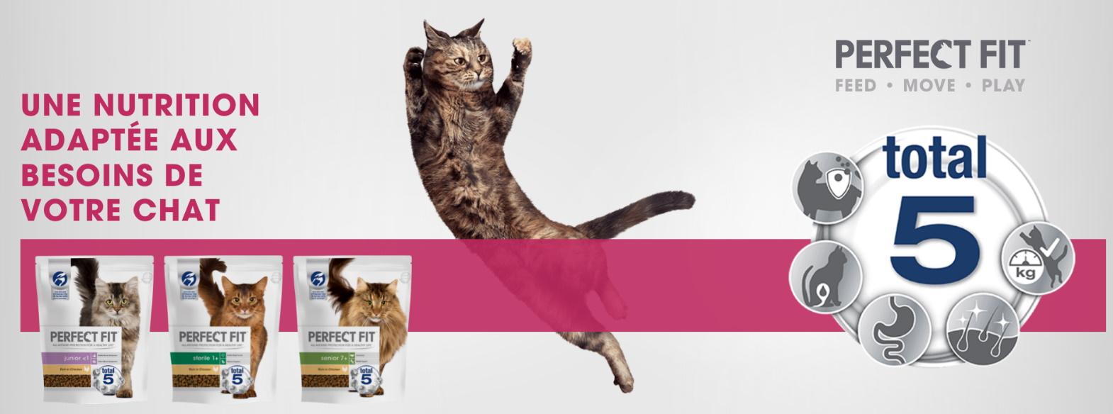 Test gratuit d'aliments pour chat Perfect Fit