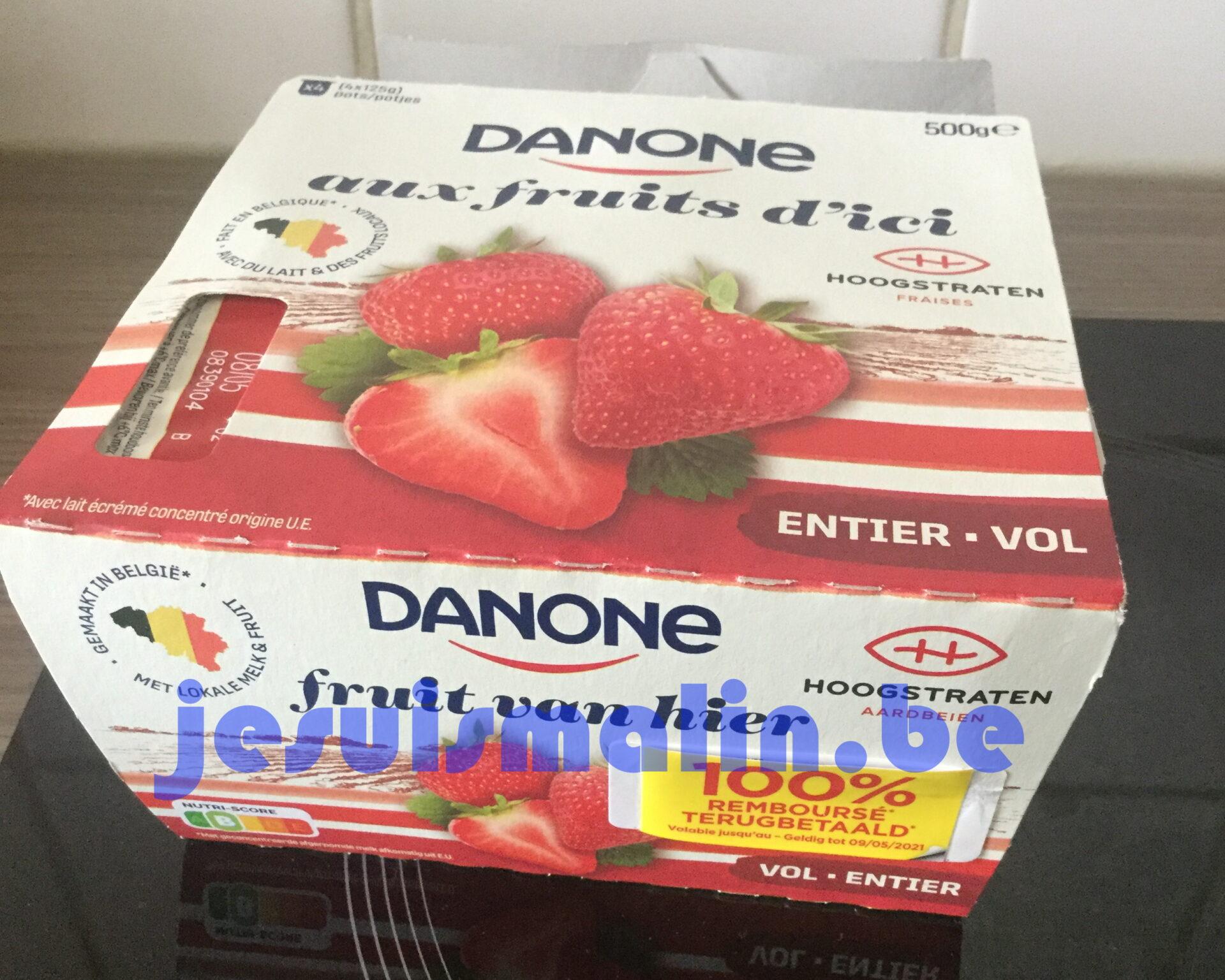 Yaourt Danone aux fruits d'ici 100% remboursé
