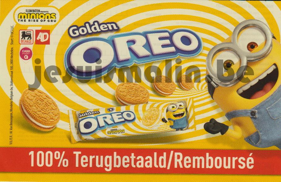 Biscuits Oreo Golden Minions 100% remboursé