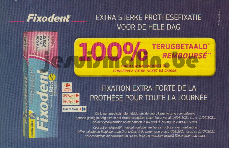 Crème adhésive pour prothèses dentaires Fixodent 100% remboursé