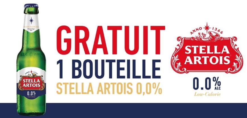 Bière Stella Artois 100% remboursé avec myShopi