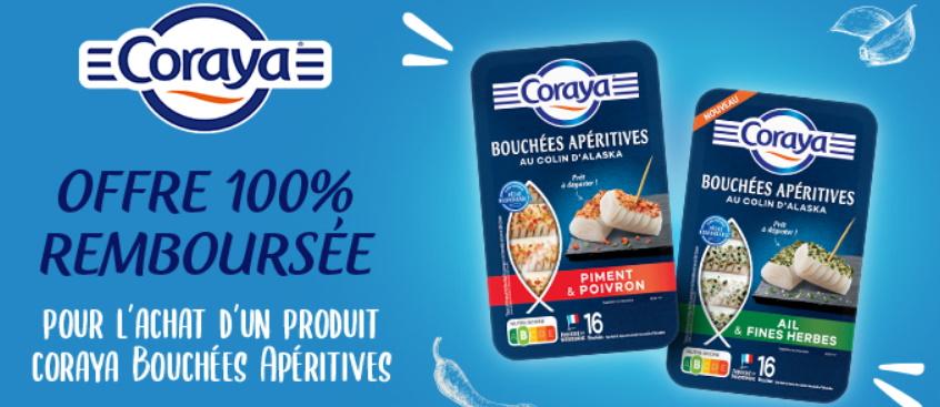 Bouchées apéritives de poisson Coraya 100% remboursé