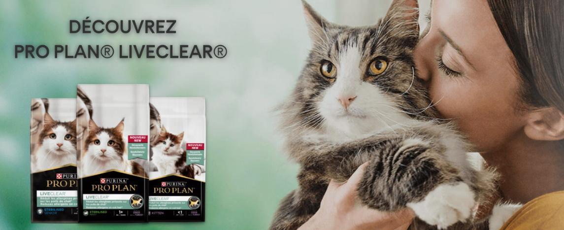 Test gratuit nourriture pour chats Purina Pro Plan Liveclear