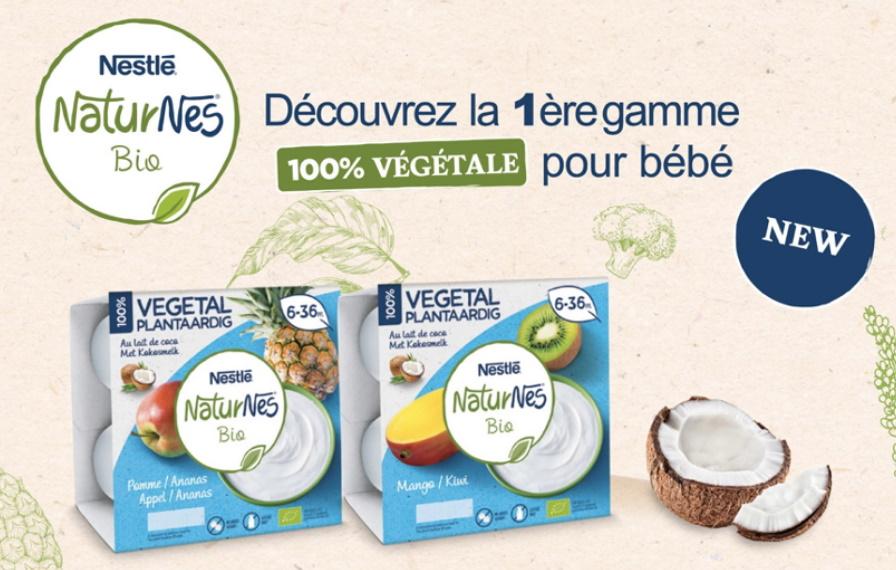 Yaourt végétal pour bébés NaturNes de Nestlé 100% remboursé